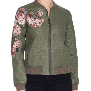 NWT cute Joe's faux leather embroidered jacket